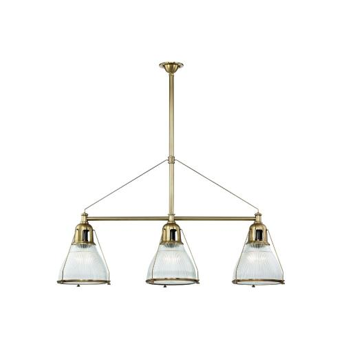 Hudson Valley Lighting 7313 Haverhill - 3 Light Island in Industrial Style - 12 Inches Wide by 30.5 Inches High