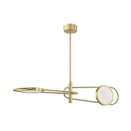 Hudson Valley Lighting 8722 Valeri - 49 Inch 60W 2 LED Pendant in Contemporary Style - 49 Inches Wide by 9 Inches High
