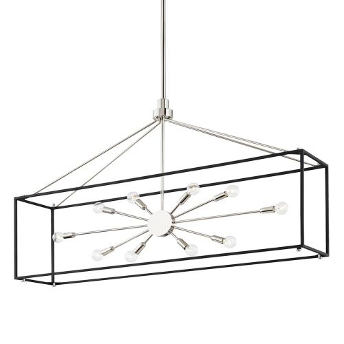 Hudson Valley Lighting 8948 Glendale - 10 Light Island in Contemporary/Modern Style - 10 Inches Wide by 28.325 Inches High