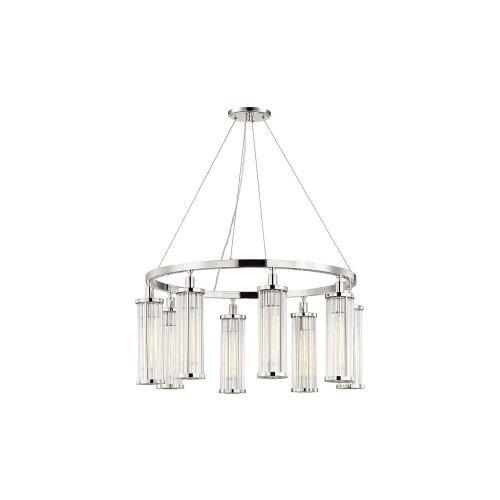 Hudson Valley Lighting 9130 Marley 8-Light Pendant - 30 Inches Wide by 15 Inches High