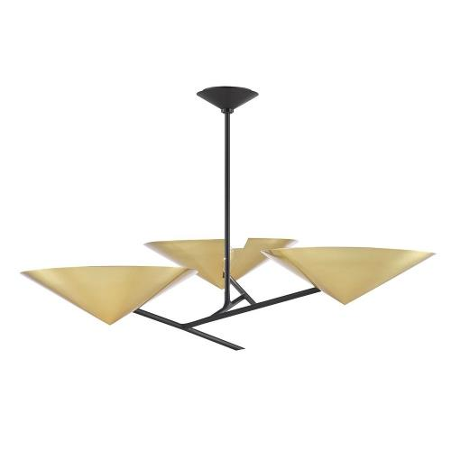 Hudson Valley Lighting 9740 Equilibrium - 3 Light Chandelier in Modern Style - 39.5 Inches Wide by 12.25 Inches High