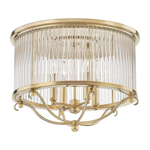 Hudson Valley Lighting MDS201 Glass No.1 - 4 Light Semi Flush Mount - 19 Inches Wide by 12.75 Inches High