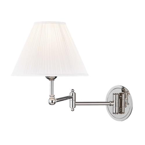 Hudson Valley Lighting MDS603 Signature No.1 by Mark D. Sikes One Light Adjustable Wall Sconce - 10 Inches Wide by 14 Inches High