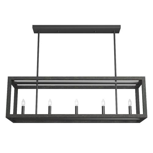 Hunter Fans 19090 Squire Manor-6 Light Chandelier in Modern Style-11 Inches Wide by 12.25 Inches High