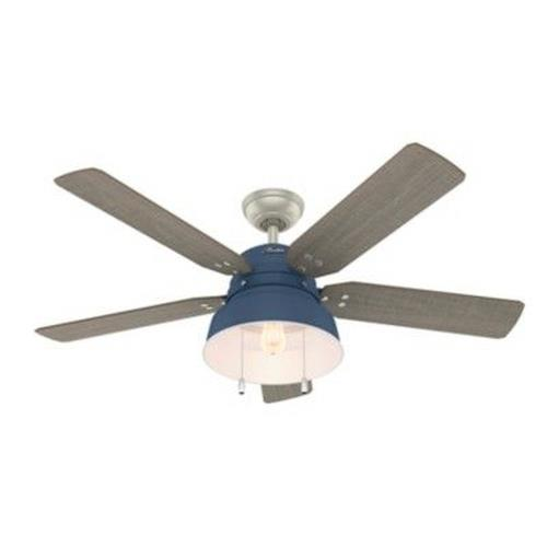 Hunter Fans 50252 Mill Valley-Ceiling Fan with Light Kit and Pull Chain in Rustic Style-52 Inches Wide by 17.33 Inches High