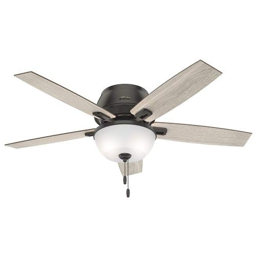 Hunter Fans 5027CF Donegan-Ceiling Fan with Light Kit in Rustic Style-52 Inches Wide by 18.62 Inches High