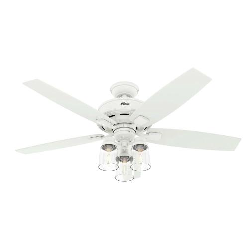 Hunter Fans 50281 Bennett-Ceiling Fan with Light Kit in Rustic Style-52 Inches Wide by 19.82 Inches High