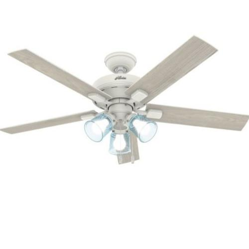 """Hunter Fans 50854 Whittier 52"""" Ceiling Fan with LED Light and Pull Chain"""