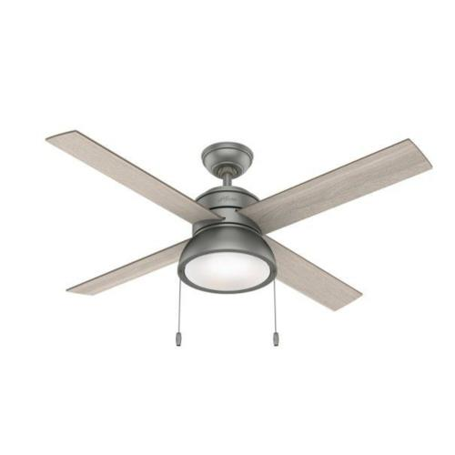 """Hunter Fans 5103 Loki 52"""" Ceiling Fan with LED Light and Pull Chain"""
