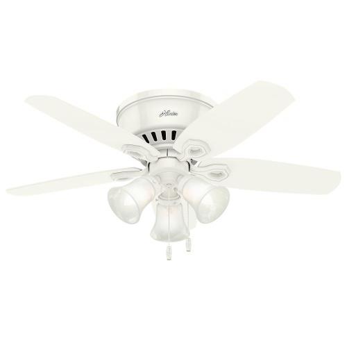 Hunter Fans 51090BLP Builder Low Profile - 42 Inch Ceiling Fan with Light Kit