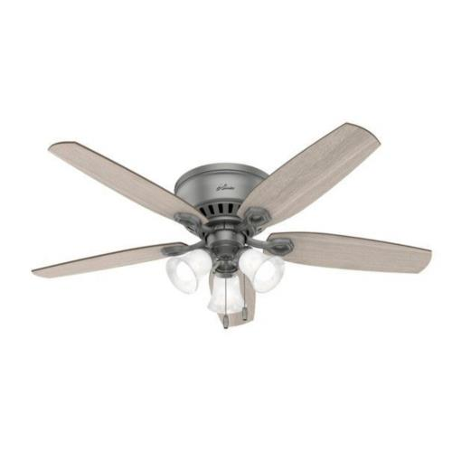 """Hunter Fans 5111 Builder 52"""" Low Profile Ceiling Fan with LED Light and Pull Chain"""