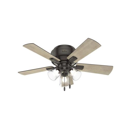 Hunter Fans 5215 Crestfield-Ceiling Fan with Light Kit-42 Inches Wide by 15.08 Inches High
