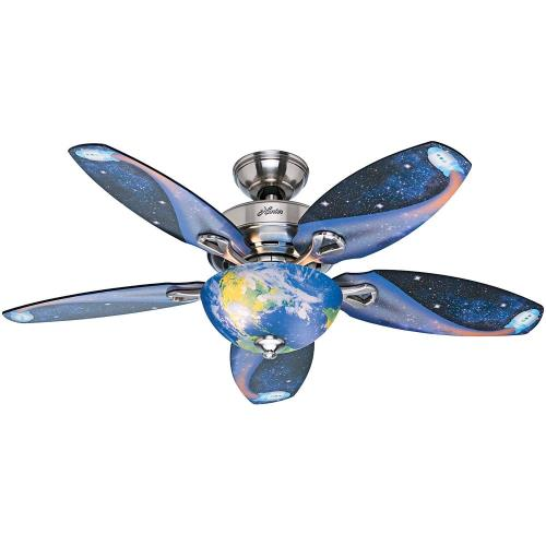 "Hunter Fans 52298 Discovery - 48"" Ceiling Fan with Light Kit and Pull Chain"