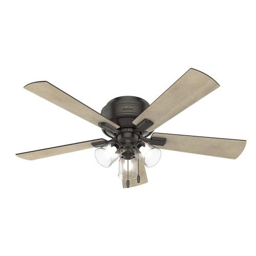 Hunter Fans 5420 Crestfield-Ceiling Fan with Light Kit-52 Inches Wide by 17.69 Inches High
