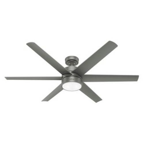 Hunter Fans 5962-60 Solaria - 60 Inch Outdoor Ceiling Fan with LED Light and Handheld Remote