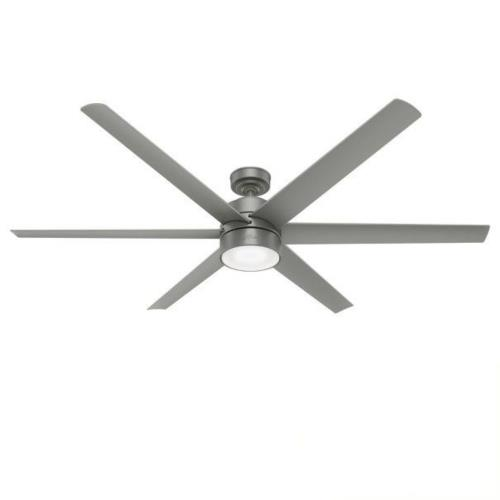 Hunter Fans 5962-72 Solaria-Outdoor Ceiling Fan with LED Light and Handheld Remote in Casual Style-72 Inches Wide by 14.9 Inches High