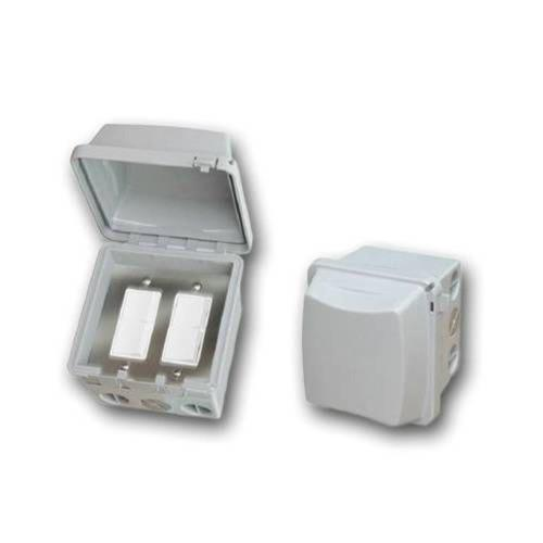 Infratech 14 4325 Accessory - Dual Duplex Switch Surface Mount  and  Gang Box 20 Amp Per Pole