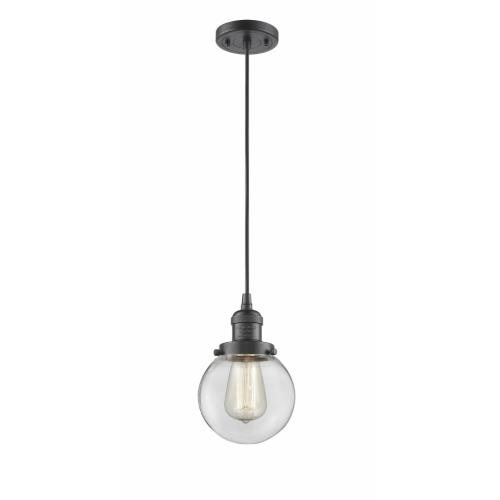 Innovations Lighting 201-G20-6-LED Beacon-1 Light Mini Pendant in Industrial Style-6 Inches Wide by 9.5 Inches High