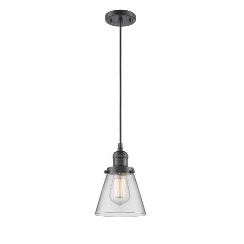 Innovations Lighting 201C-G6 One Light Small Cone Cord Pendant-6.25 Inches Wide by 8.25 Inches High
