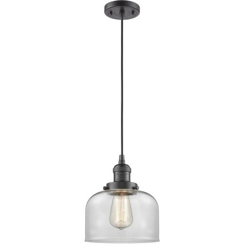 Innovations Lighting 201C-G7 One Light Large Bell Cord Pendant-8 Inches Wide by 10 Inches High