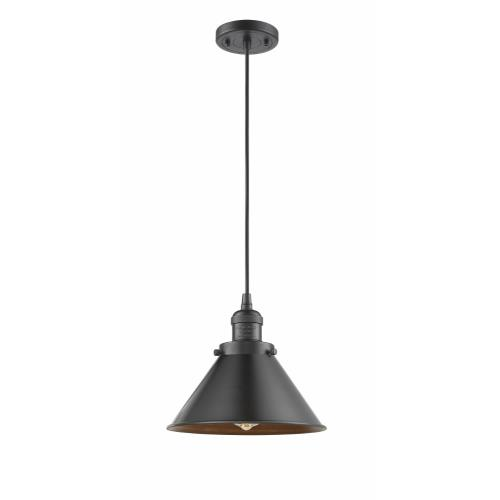 Innovations Lighting 201C-M10-LED Briarcliff-3.5W 1 LED Mini Pendant in Traditional Style-10 Inches Wide by 8 Inches High