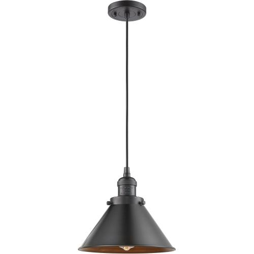 Innovations Lighting 201-M10 Briarcliff-1 Light Mini Pendant in Traditional Style-10 Inches Wide by 14 Inches High