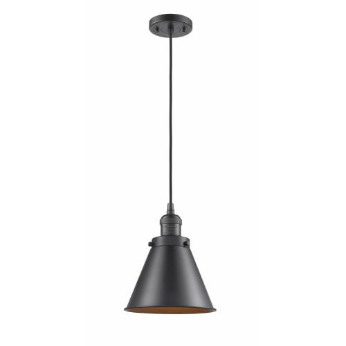 Innovations Lighting 201-M13 Appalachian-1 Light Mini Pendant in Traditional Style-8 Inches Wide by 10 Inches High