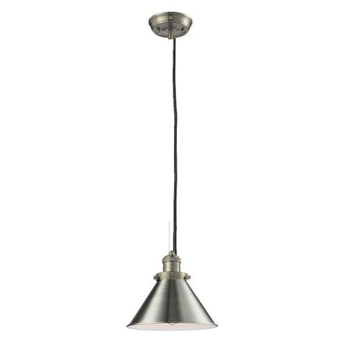 Innovations Lighting 201C-Br Briarcliff-One Light Cord Mini Pendant-10 Inches Wide by 8 Inches High