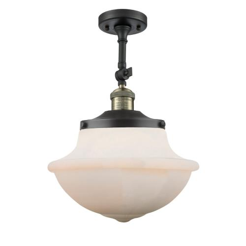 Innovations Lighting 201F-G54-LED Large Oxford-3.5W 1 LED Semi-Flush Mount in Traditional Style-12 Inches Wide by 15.5 Inches High