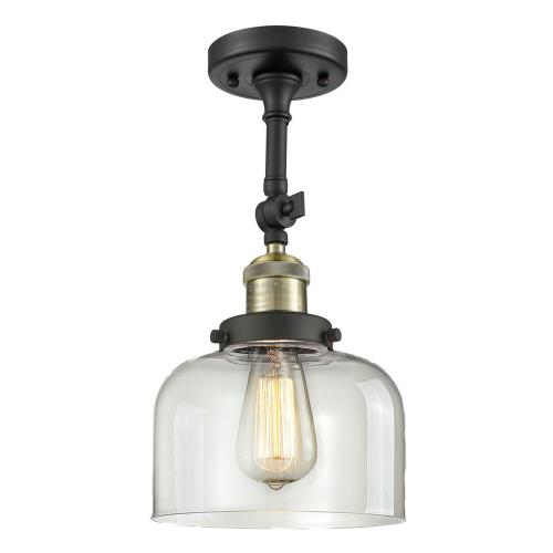 Innovations Lighting 201F-G7 Large Bell - 13.88 Inch 1 Light Semi-Flush Mount