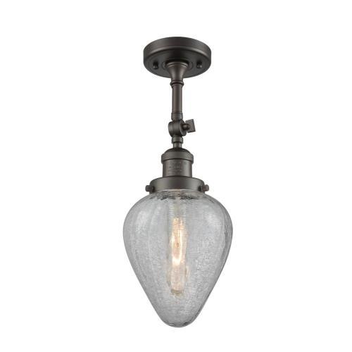 Innovations Lighting 201F-Ge Geneseo - One Light Semi-Flush Mount