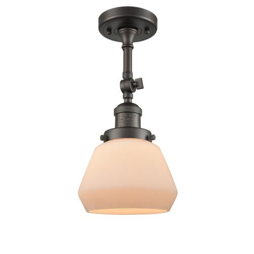 Innovations Lighting 201F-Fu Fulton-One Light Semi-Flush Mount-7 Inches Wide by 14 Inches High