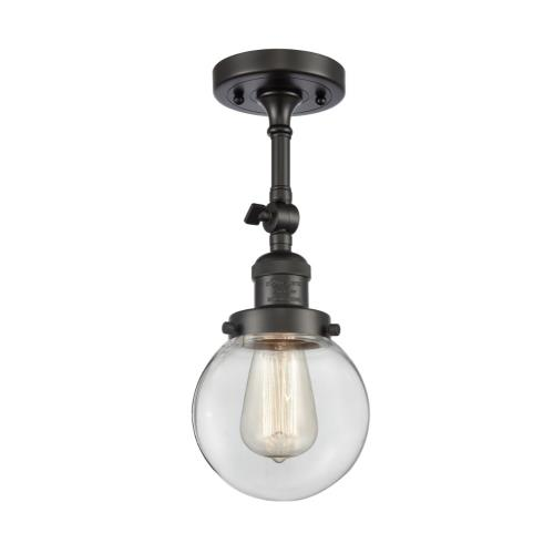 Innovations Lighting 201F-G20-6 Beacon-1 Light Semi-Flush Mount in Industrial Style-6 Inches Wide by 14.25 Inches High
