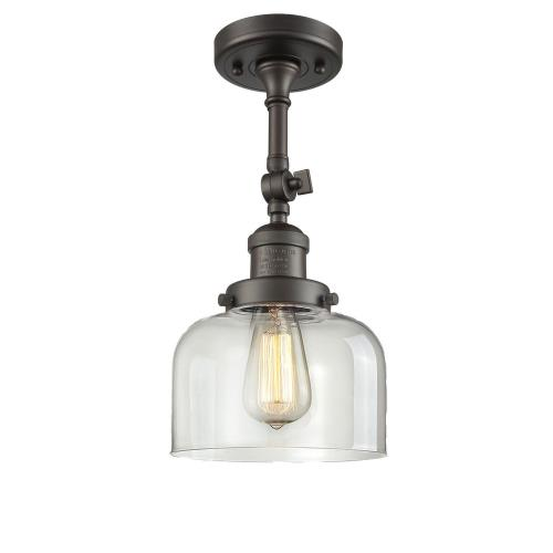 Innovations Lighting 201F-G7 Large Bell-1 Light Semi-Flush Mount in Industrial Style-8 Inches Wide by 13.88 Inches High