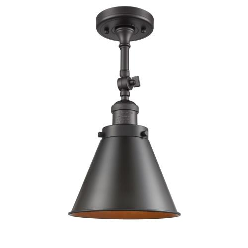 Innovations Lighting 201F-M13 Appalachian-1 Light Semi-Flush Mount in Traditional Style-8 Inches Wide by 16 Inches High