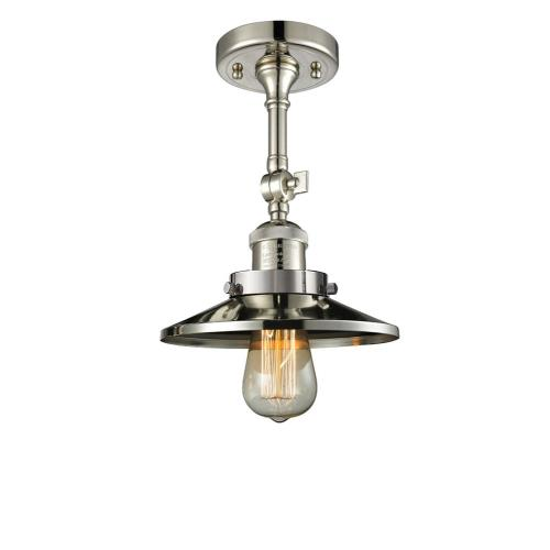 Innovations Lighting 201F-M One Light Railroad Semi-Flush Mount