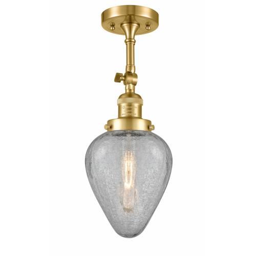 Innovations Lighting 201F-G165 Geneseo - 15.5 Inch 1 Light Semi-Flush Mount