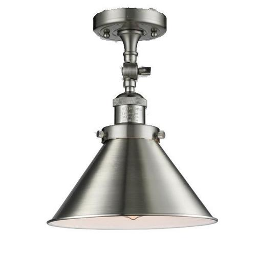 Innovations Lighting 201F-Br Briarcliff-One Light Semi-Flush Mount-10 Inches Wide by 11 Inches High