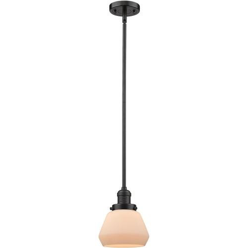 Innovations Lighting 201S-Fu Fulton-One Light Stem Mini Pendant-7 Inches Wide by 9 Inches High