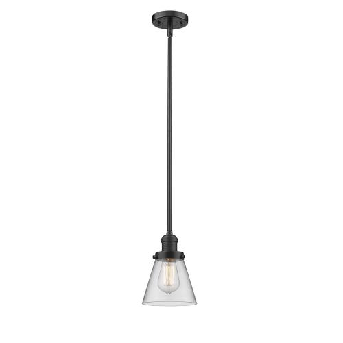Innovations Lighting 201S-G6 One Light Small Cone Stem Pendant-6.25 Inches Wide by 8.25 Inches High