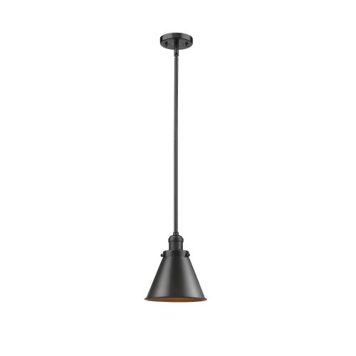 Innovations Lighting 201S-M13-LED Appalachian-3.5W 1 LED Mini Pendant in Traditional Style-8 Inches Wide by 10 Inches High