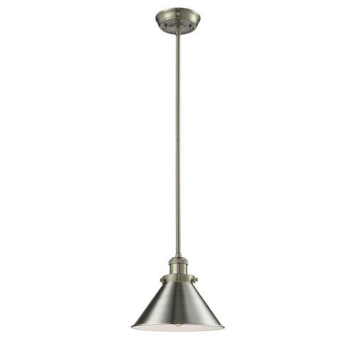Innovations Lighting 201S-Br Briarcliff-One Light Stem Mini Pendant-10 Inches Wide by 10 Inches High