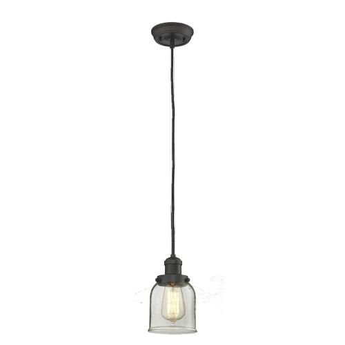 Innovations Lighting 201C-G5 One Light Small Bell Cord Pendant-5 Inches Wide by 10 Inches High