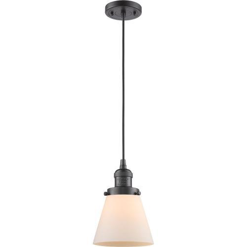 Innovations Lighting 201C-G6 One Light Small Cone Cord Pendant