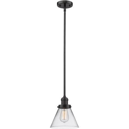 Innovations Lighting 201S-G4 One Light Large Cone Stem Pendant