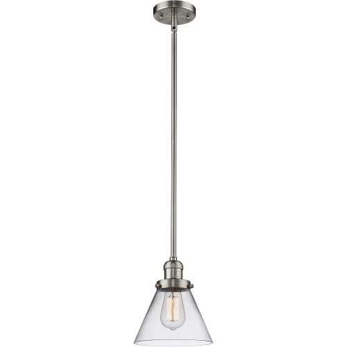 Innovations Lighting 201S-G4 One Light Large Cone Stem Pendant-8 Inches Wide by 10 Inches High