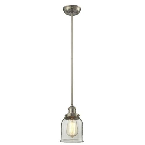 Innovations Lighting 201S-G5 One Light Small Bell Stem Pendant-5 Inches Wide by 10 Inches High