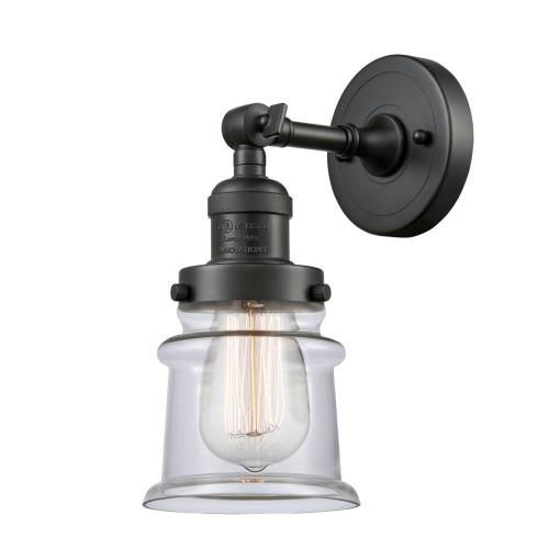 Innovations Lighting 203-G18S Small Canton-1 Light Wall Sconce in Industrial Style-6.5 Inches Wide by 11 Inches High