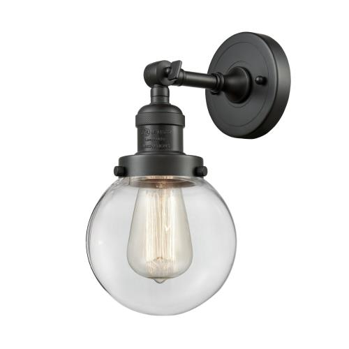 Innovations Lighting 203-G20-6-LED Beacon-3.5W 1 LED Wall Sconce in Industrial Style-6 Inches Wide by 12 Inches High