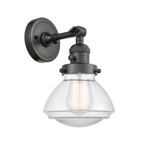 Innovations Lighting 203-G32 Olean-1 Light Wall Sconce in Industrial Style-6.75 Inches Wide by 7.75 Inches High